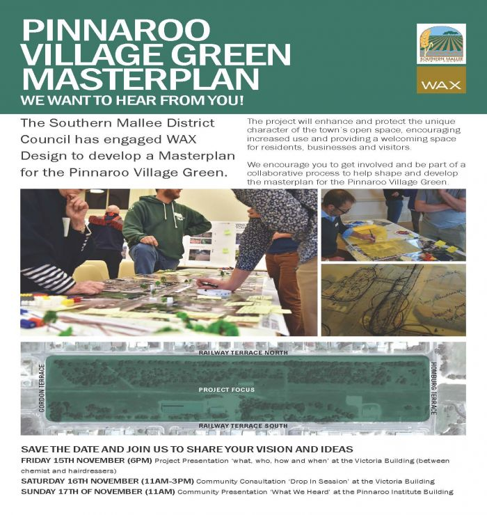 Pinnaroo village green consultation poster