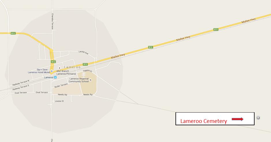 Lameroo Cemetery Map